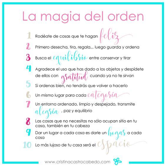 Resumen libro la magia del orden