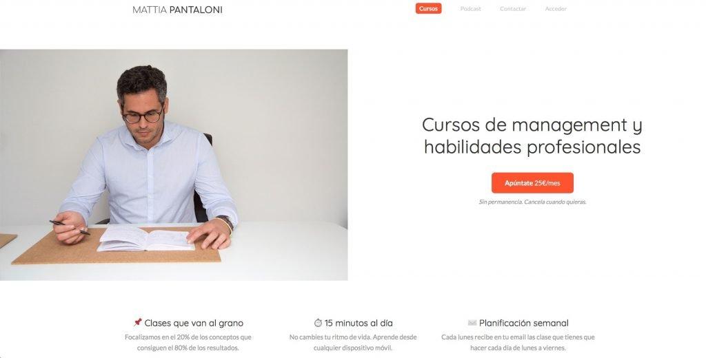 Web de Mattia Pantaloni