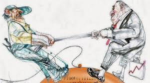Lucha entre empresa y trabajador