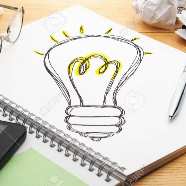 Inspiración, ideas, encenderse la bombilla