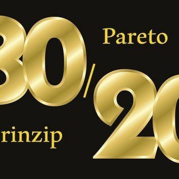 La regla de Pareto del 20 80
